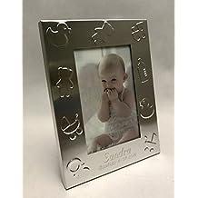 Portafotos PERSONALIZADOS para bautizo marcos pequeños niño/niña GRABADOS ...