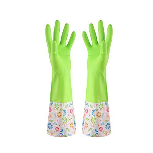 Saniswink Praktische tragbare Küchenutensilien 1 Paar Geschirrspüler Schrubber Wasserdicht Haushalt Hauszeit Lange Dünne Reinigung Handschuhe Einheitsgröße (Schaum Gummi Kostüm)
