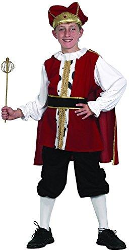 König Kostüm Kinder - elegantes Kinderkostüm König für Jungen (122/128) (Elegantes König Kostüme)