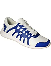 Henselite Ladies HL70 Ultra-Lightweight Lawn Bowling Shoes White/Blue