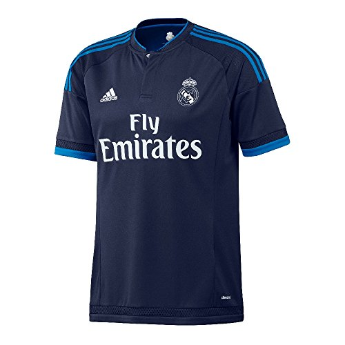 adidas Real Madrid CF 3. Youth Soccer Jersey, Jungen, Night Indigo/Bright Blue (Madrid Ronaldo Youth-real Jersey)