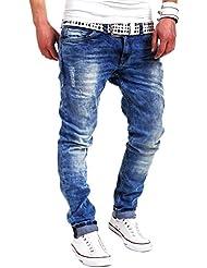 MT Styles Jeans Slim pantalon Fit RJ-2001