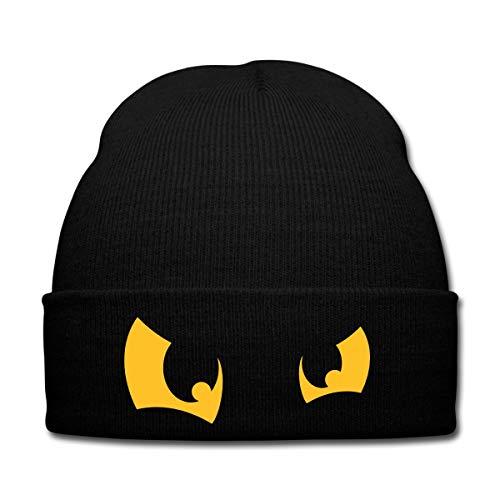 Katze Grimmige Kostüm - Spreadshirt Comic Augen Wintermütze, Schwarz