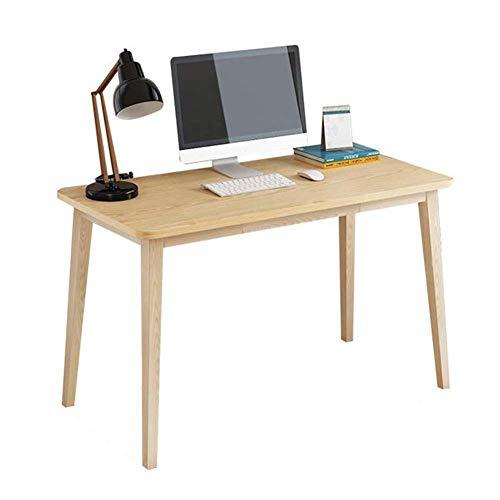 B-CD Haushalt Schreibtisch Buche Beine Möbel Computer Unterstützt Laptops Desktop Haushalt Bürotisch Einfache Montage Multifunktionale Langlebig, Holzfarbe, 120 * 60 * 74 cm