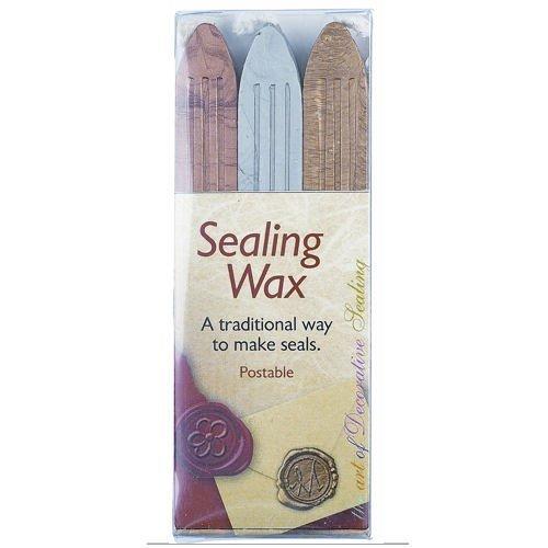 Manuscript Sealing Wax - Gold/ Silver/ Bronze (Pack of 3) by Manuscript