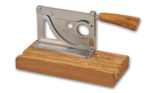 Coltelleria Saladini Zigarrenabschneider Tisch Handgefertigtes Olivenholz Messer mit Klinge geschmiedet