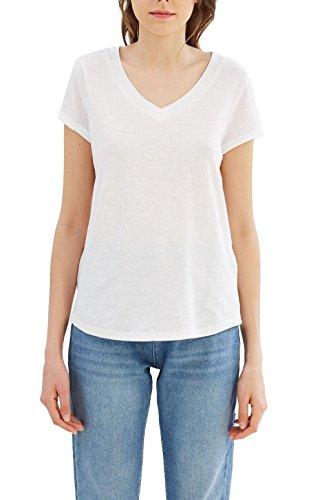 ESPRIT Damen T-Shirt 027ee1k041 Weiß (White 100)