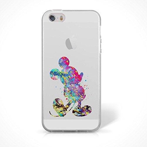 """Fan Art Telefon Hülle/Case Gel TPU Abdeckung für iPhone 6 / 6s (4.7"""") mit Display Schutz / EJC Avenue / Die Schöne und das Biest Mickey Maus"""