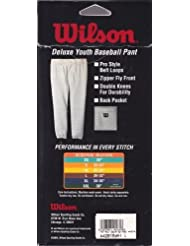 Youth Baseball Pant White Large 30-32 by Wilson