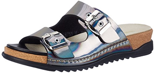 Waldläufer - Hiara, Pantofole Donna Grau (Peltro)