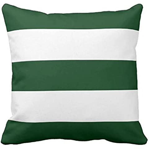 New Hunter Green White Stripe Couch pillowcase