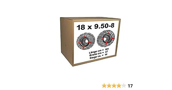 Schneeketten Spanngummi mit PVC-Haken Reifengröße 18 x 9.50-8 18 x 8.50-10