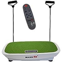 Preisvergleich für MAXOfit Multi Vibrationsplatte Greenline MF-21 | Fitness Vibrationsgerät Ganzkörper Training Für Zuhause | Mit Rutschfester Trainingsfläche, Trainingsbänder, LCD Display und Fernbedienung
