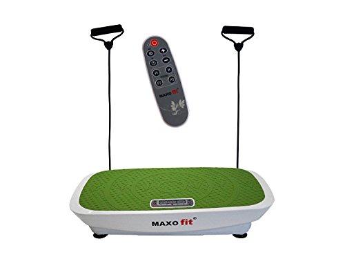 MAXOfit Multi Vibrationsplatte Greenline MF-21 | Fitness Vibrationsgerät Ganzkörper Training Für Zuhause | Mit Rutschfester Trainingsfläche, Trainingsbänder, LCD Display und Fernbedienung