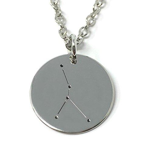 Cadoline Silberton 'Krebs' auf Englisch Halskette 1.8cm mit 45cm Kette Star Sternbilder Tierkreis Zeichen
