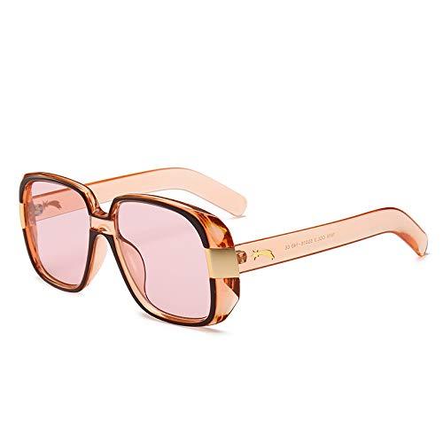 AAMOUSE Frauen quadratische Sonnenbrille ModedesignGolden Meteor Brille Sonnenbrille Frauen Männer