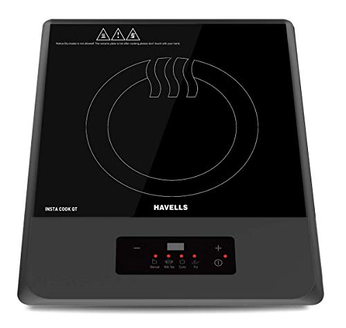 Havells Insta Cook QT Induction Cooktop, Grey, 1200 W