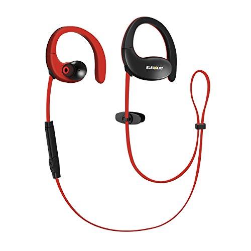 Bluetooth kopfhörer, ELEGIANT Bluetooth 4.1 Wireless Sport Headset kabellos in ear Ohrhörer Stereo Ohrstöpsel bequem verstellbar Ohrbügel Ohrhalt mit AptX + Mikrofon Noise Cancelling CVC6.0 der Freisprechfunktion 12 Stunden Spielzeit für iPhone 8 7 7 plus 6 6S SE Samsung Galaxy S8 S7 Edge S6 IOS Android (Ohrbügel Wireless Kopfhörer)