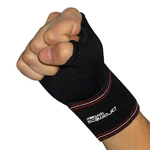 Oramics Sport 2er Set Handgelenkbandage für rechts und links - elastische Daumenbandage mit 6 cm Daumenumfang - optimale Genesung am Daumen und Handgelenk - entlastet Daumengelenk und Sattelgelenk -