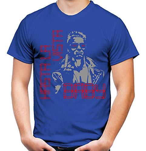 Terminator Männer und Herren T-Shirt | Spruch Comic T800 Geschenk | M3 (L, Blau)