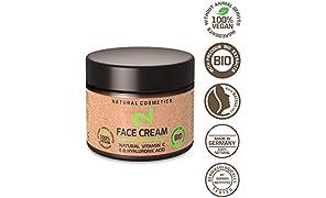 DUAL Day & Night Face Cream|Crema Facial Hidratante Para Noche y Día 100% Natural y Vegana Con Microalgas y Brócoli|Fuente de Vitamina C, Ácido Hialurónico|Anti-edad |Certificado|50ml|Hecho en la UE