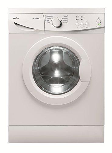 Amica WA 14640 W Waschmaschine FL/A+ / 196 kWh/Jahr / 1000 UpM / 6 kg / 9240 L/Jahr / Elektronisch mit 8 Haupt-Programmen / 2 Zusatzfunktionen Temperaturwahl + Schleuderwahl/weiß