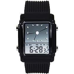 Hiwatch LED Digital Uhr für Männer buntes Digital wasserdichte Sportuhr Schwarz