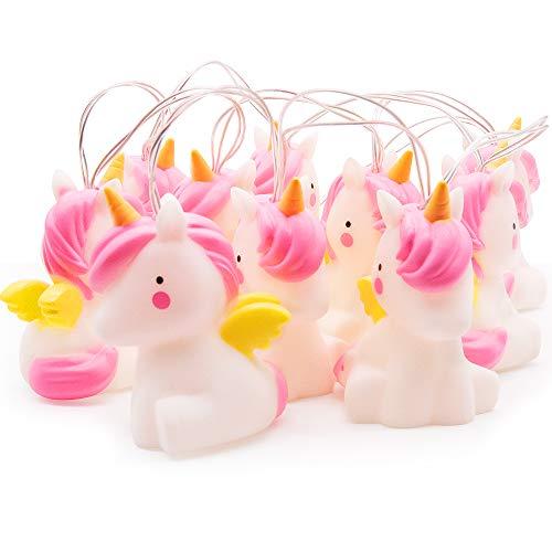 Unicornio String Lights, MMTX LED Lindo PVC Cuerda de la lámpara, luces de cadena divertidas luces de hadas interiores decoraciones para el hogar Luz para bebés niños Habitación de guardería y boda.