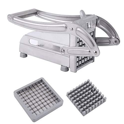 Lightleopard Stainless Steel French Fries Slicer Potato Chipper Cutter Chopper Maker French Fry Cutter