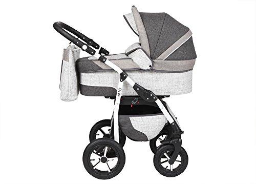 Kinderwagen Babywagen Kombikinderwagen TriBeCe Wind 3 in 1 Komplettset mit Zubehör 0-3 Jahre 0-15...