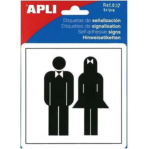 Pictogramme Toilettes - APLI Pictogramme toilette dames/hommes 114 x 114