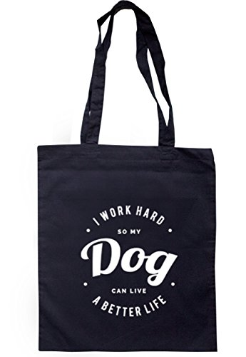 breadandbutterthreads i lavori rigida So My Cane can live un better vita borsa 37,5cm x 42cm con manici lunghi Navy