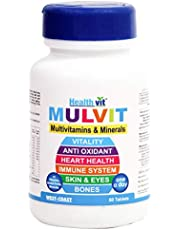 Healthvit Mulvit A To Z Multivitamins and Minerals- 60 Tabl