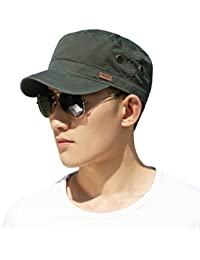 9b9bd78155a03 Siggi Mens 100% Cotton Classic Army Caps Military Hats Baseball Cap for Men  Adjustable(