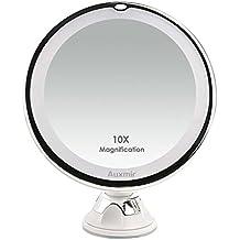 Hd Faltbare Make-up Spiegel Saugnapf Kosmetik Spiegel 10x Vergrößerungs Led Beleuchtete Make-up Spiegel Faltbare Spiegel Spiegel