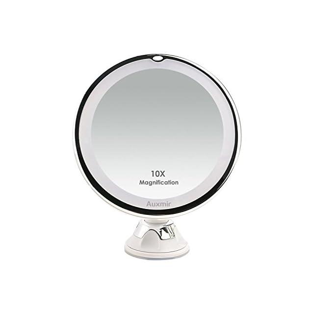 Fancii Miroir De Maquillage Grossissant 10x Lumineux Avec Ventouse