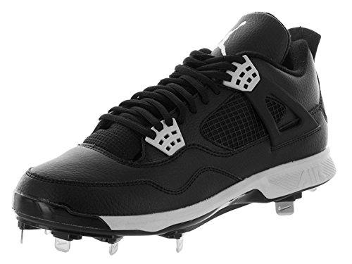 half off 99e93 f6750 Nike Air Jordan IV Retro Metal Mens Baseball-Shoes 807710, Negro Gris (