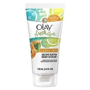 Olay Fresh Effects Clear Skin Acne Hater Deep Scrub, Salicylic Acid, 5 Fluid Ounce