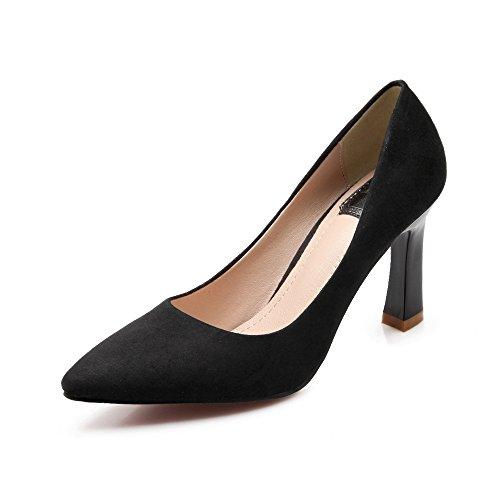 Shoemaker's heart Pelle scamosciata scarpe europeo di primavera e autunno Moda scarpe singolo basso appuntita sexy tacco grossolana Thirty-six