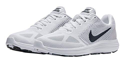 Nike Wmns Revolution 3, Chaussures de Course Femme Elfenbein (White/black/wolf Grey)