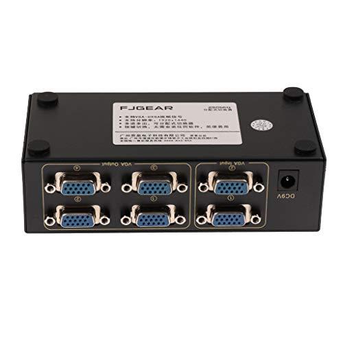 MagiDeal Universal 2 in 4 Out VGA Switch Box Schaltkasten mit Manueller Schalter Taste Zweiwegschalter 1920x1440 für PC Host