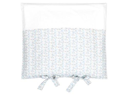 KraftKids Bezug für Wickeltischauflage kleine Dreiecke blau grau weiß