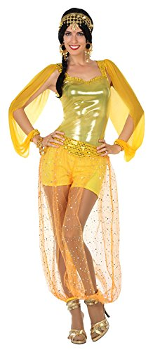 Atosa- Disfraz mujer árabe, Color dorado, XS-S (15835)