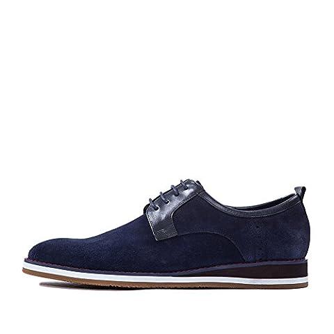 mens casual shoes,ceinture de jeunesse à fond épais avec des chaussures d'aide de couleur pure-A Longueur du pied=24.8CM(9.8Inch)