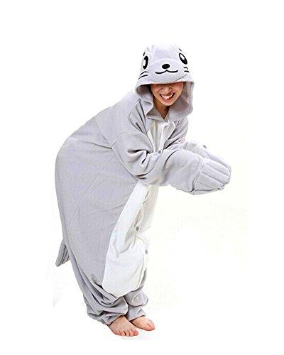 SAMGU Tier Onesie Pyjama Cosplay Kostüme Schlafanzug Erwachsene Unisex Animal Tieroutfit tierkostüme Jumpsuit Dichtung(Größe (Kostüme Dichtung)