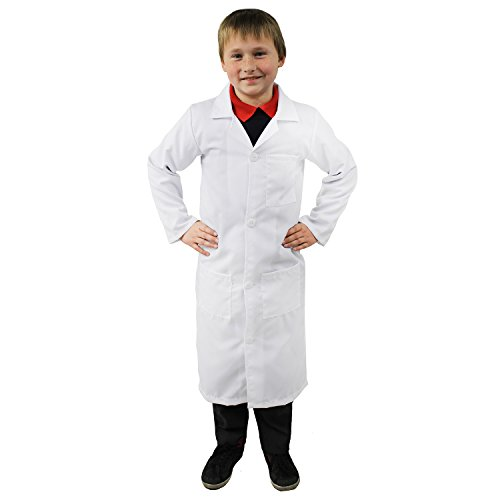 Imagen de i love fancy dress ilfd7100 m infantil unisex largo color blanco perchero de pared de lab. perfecto para disfraz de médico, enfermera y científicos
