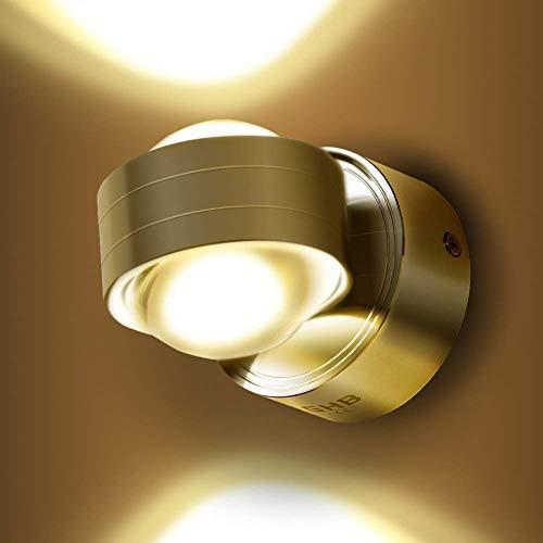 GHB 6W LED Wandleuchte Halb Globe Warmweiß Wandlampe [Energieklasse A+]