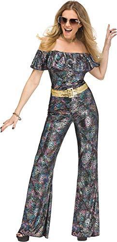 Kostüm Sexy Disco Jumpsuit - Damen Sexy 1970er Jahre Tanzende Disco Queen Jumpsuit Kostüm Outfit