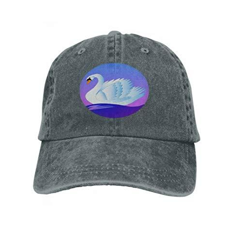 Der Kostüm Dawn Tag - Xunulyn Unisex Adjustable Flat Hat Baseball Caps swan Beautiful White Floating Blue Waves Dawn