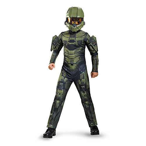 Disguise Master Chief Classic Costume, Medium (7-8) by (Halo Master Kostüme Chief Kind)